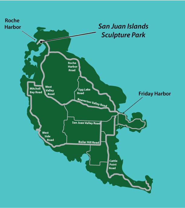 Map - San Juan Islands Sculpture Park San Juan Island Map on seattle map, lopez island map, camano island map, caribbean islands map, bainbridge island map, oak harbor, orcas island map, strait of juan de fuca map, spieden island, whidbey island map, sucia island map, puget sound map, lopez island, point roberts, san juan county, barnes island, washington islands map, shaw island, canoe island, whidbey island, olympic peninsula map, strait of juan de fuca, blakely island, satellite island, hawaii islands map, vashon island map, bermuda islands map, lummi island map, roche harbor, friday harbor map, camano island, fidalgo island map, allan island, vancouver island map, friday harbor, battleship island, gulf islands, patos island map,